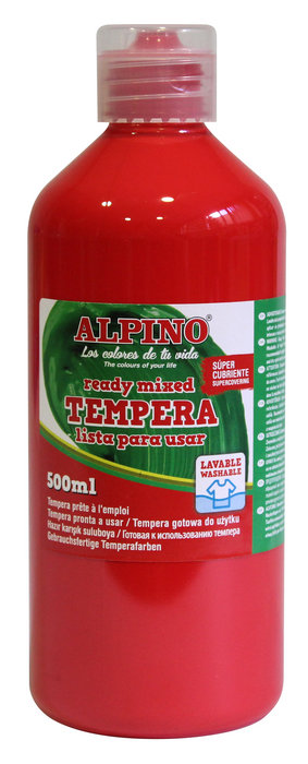 Tempera liquida alpino 500ml rojo