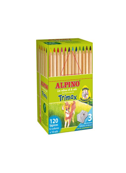 Lapiz alpino trimax economy pack 120 unidades