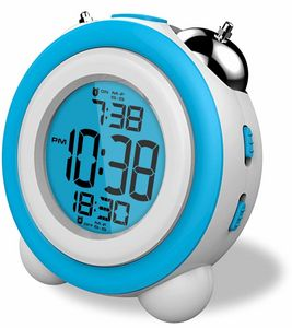 Reloj despertador daewoo dcd-220bl azul