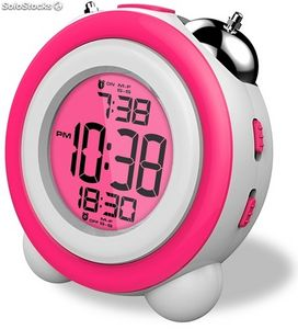 Reloj despertador daewoo dcd-220pk rosa