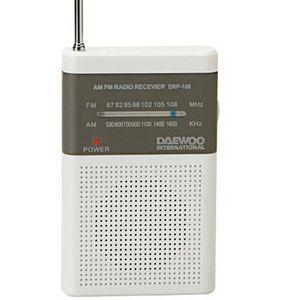 Radio daewoo analogica drp-100w blanco gris