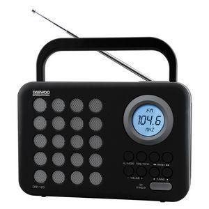 Radio daewoo digital drp-120g negro gris