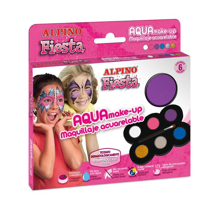 Paleta maquillaje aquarelable princess 6 colores x 5 gr + pi