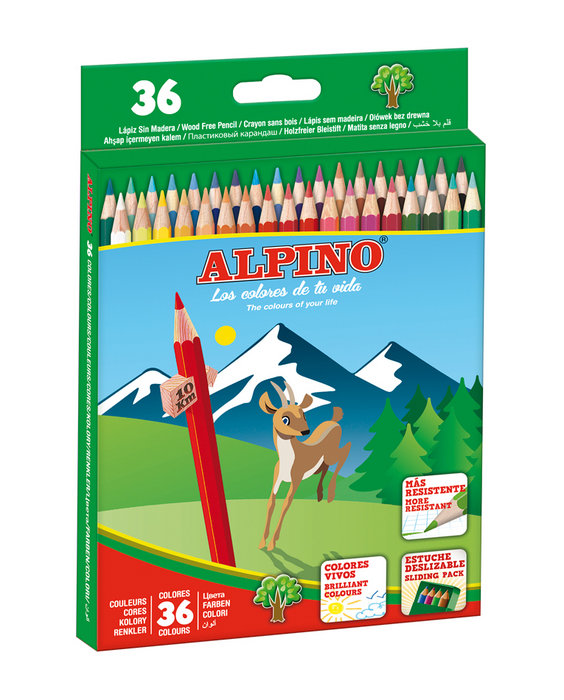 Lapiz alpino 36 colores estuche carton