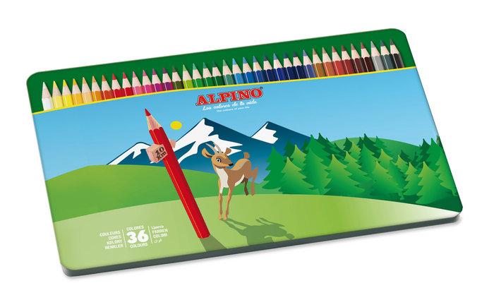 Lapiz alpino 36 colores metal