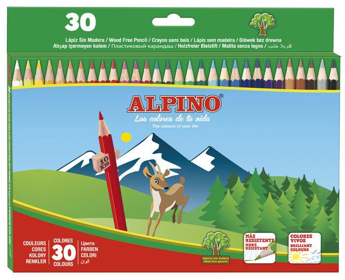 Lapiz alpino 30 colores carton