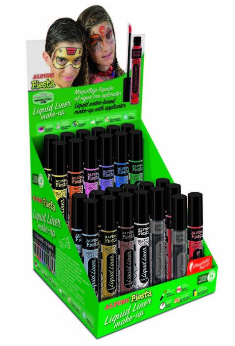 Expositor 24 unid maquillaje liquid liner y 2 unid gratis