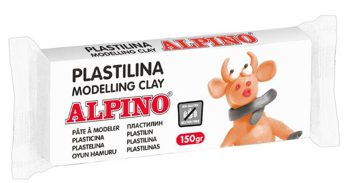 Plastilina alpino 150gr blanco