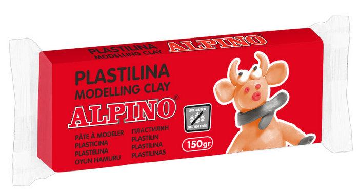 Plastilina alpino 150gr rojo