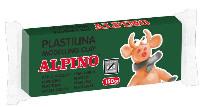 Plastilina alpino 150gr verde prado