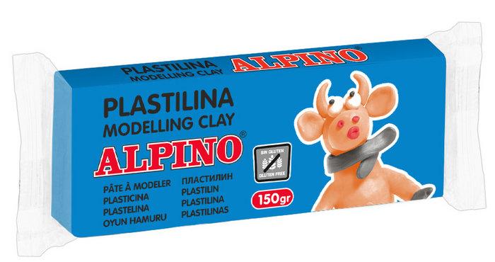 Plastilina alpino 150gr azul celeste