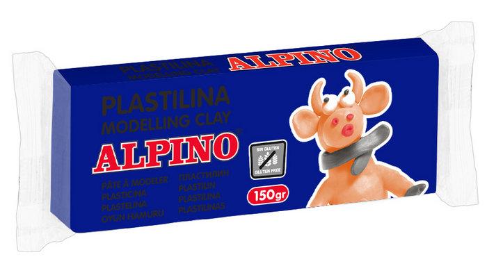 Plastilina alpino 150gr azul