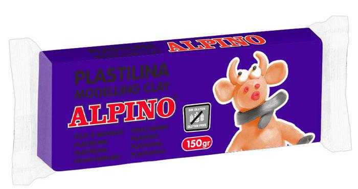 Plastilina alpino 150gr violeta claro