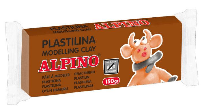 Plastilina alpino 150gr marron