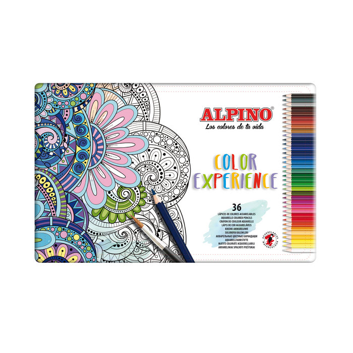 Lapiz acuarelable alpino experience dualartist 36 colores s