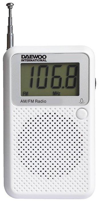 Radio digital drp-115 de bolsillo blanca