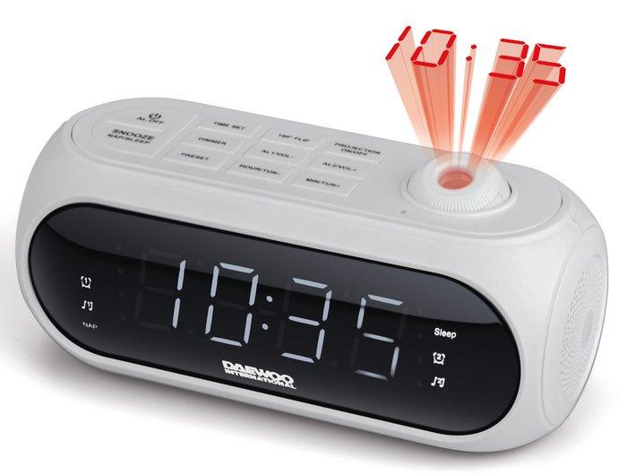 Radio reloj daewoo dcp-490w con proyeccion blanco