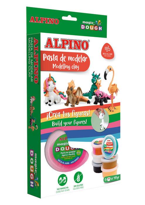 Pasta modelar magic dough fantasy animals 6 x 40 gr