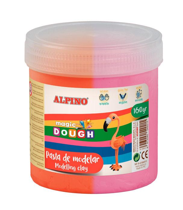 Pasta alpino magic dough bote 160grs rosa y naranja