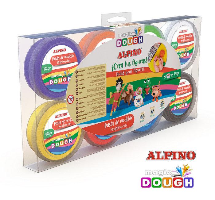 Pasta modelar magic dough 8 x 14 gr