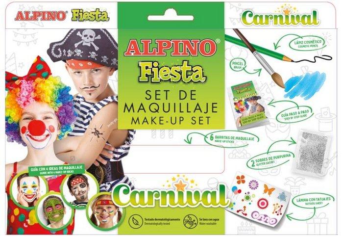 Set maquillaje alpino fiesta carnival 6 uds surtidas