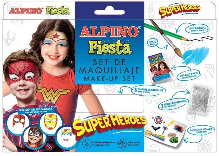Set maquillaje alpino fiesta superheroes 6 uds surtidas
