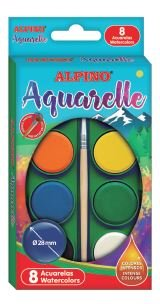 Acuarela alpino 8 colores