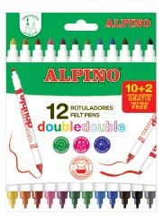 Rotulador alpino doble 12 colores