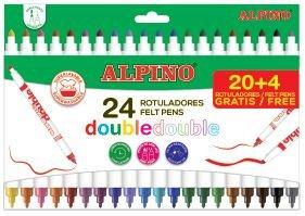 Rotulador alpino doble 24 colores