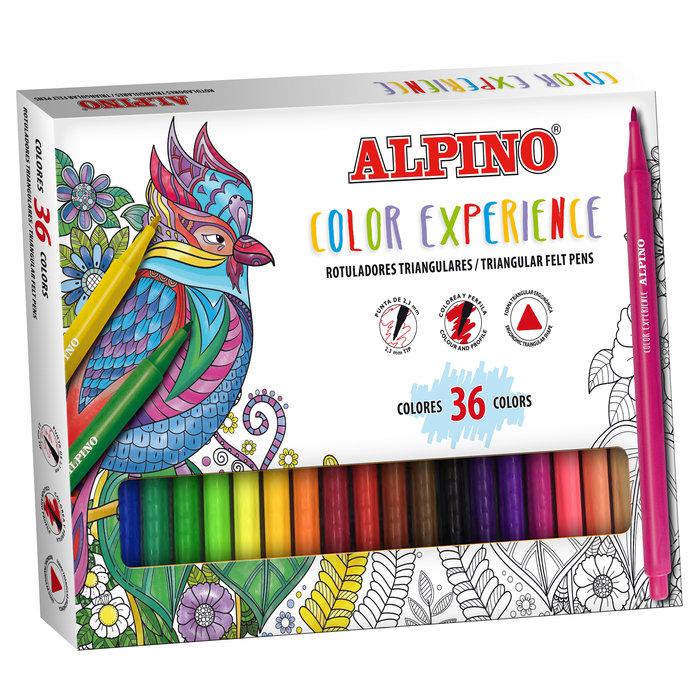 Rotulador alpino color experience 36 colores surtidos