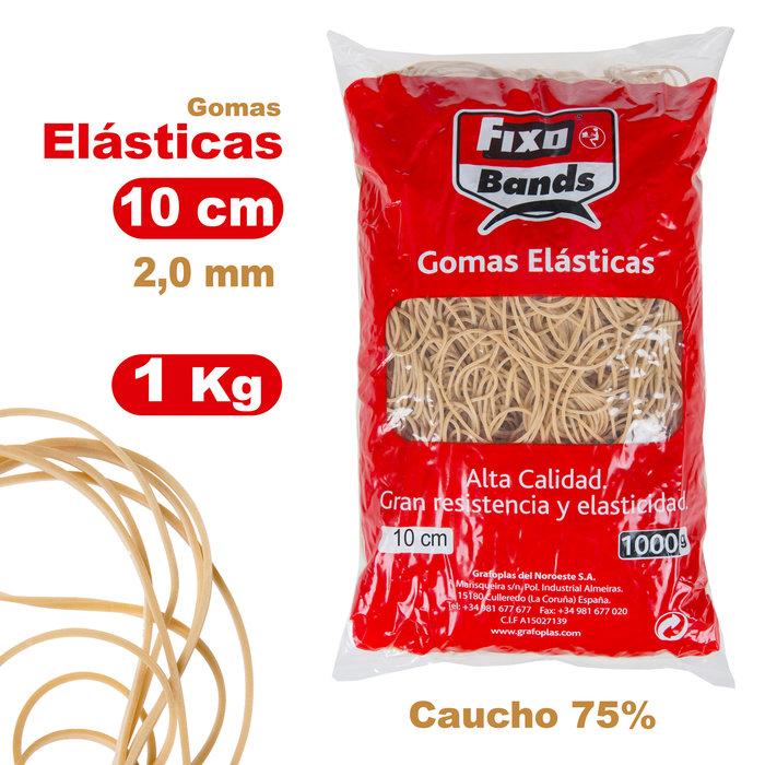 Gomas elásticas 2 mm x 10 cm fixo bolsa 1 kg