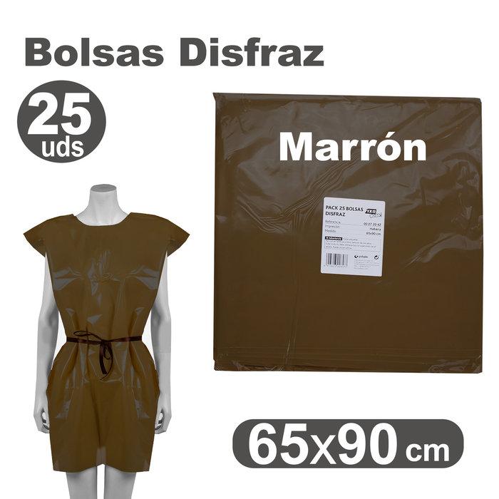 Bolsa disfraz 65x90 25 unid marron