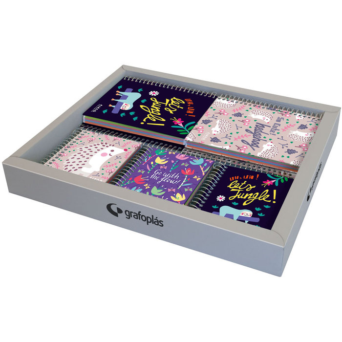 Expositor 12 cuadernos a6+a7 ec 21