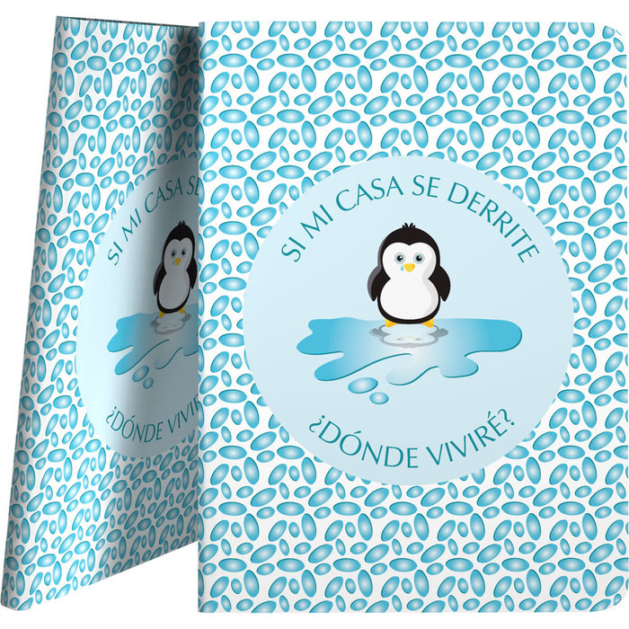 Carpeta 30 fundas pp planet 21 pinguino