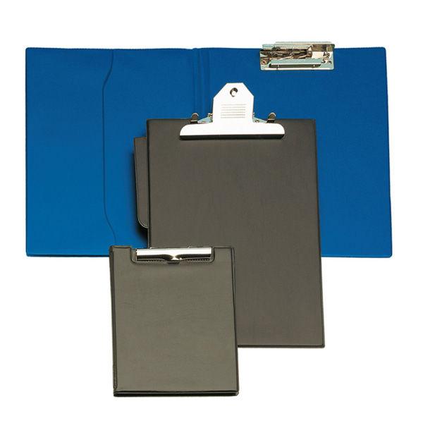 Carpeta fº clip troquelado bolsa azul