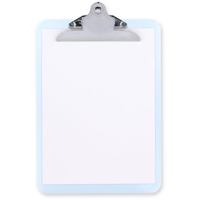 Carpeta sujetapapeles plastico con pinza jumbo folio blanco
