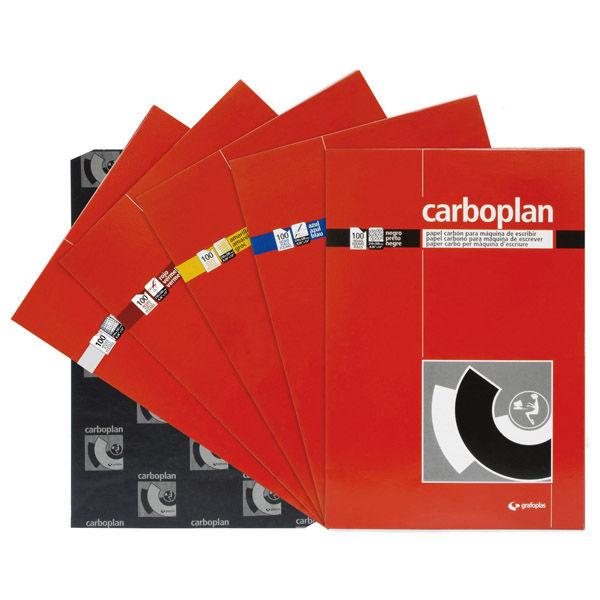 Papel carbon folio rojo 100h