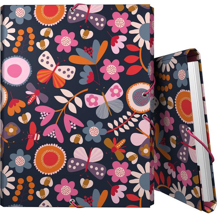 Carpeta 3 solapas forrada folio jproust 20 garden