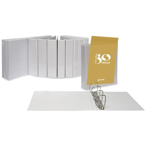 Carpeta canguro a4 2 anillas 65 mm blanca