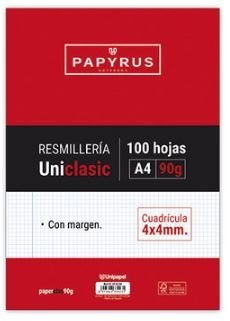 Resmilla a4 100h  90g 4x4 c/m papyrus uniclas