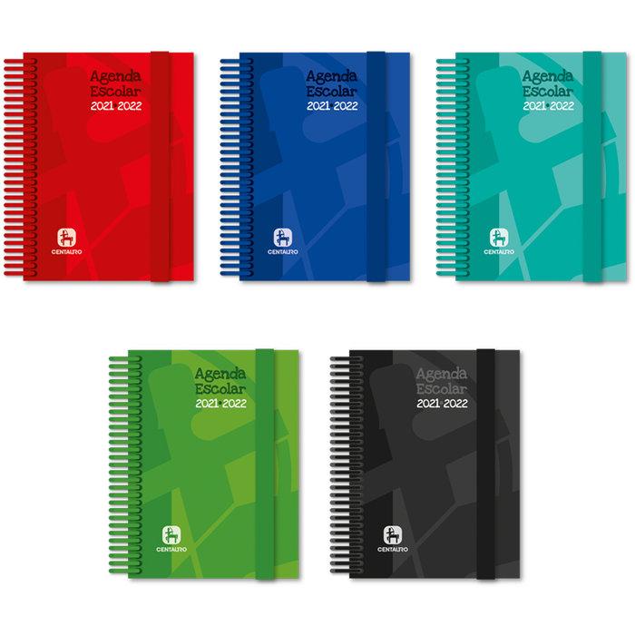 Agenda escolar 21-22 a6 d/p forrada centauro 5 unidades