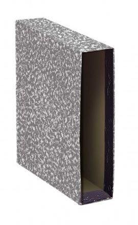Caja archivador 4º apaisado jaspeado gris