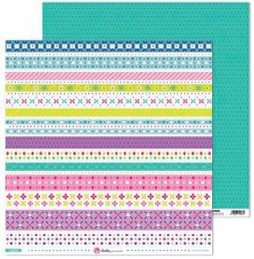 Blister 5 papel scrapbooking 12x12 tiras mosaico