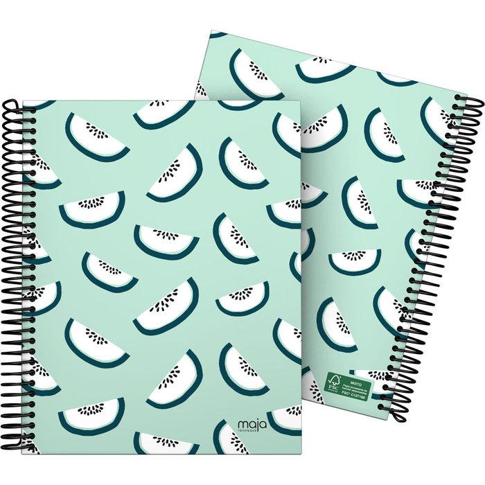 Cuaderno forrado a5 cuadricula maja 20 kiwi verde