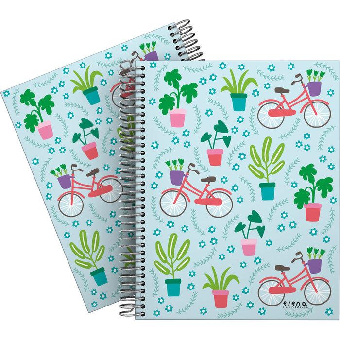 Cuaderno forrada a5 cuadros ec 20 bici