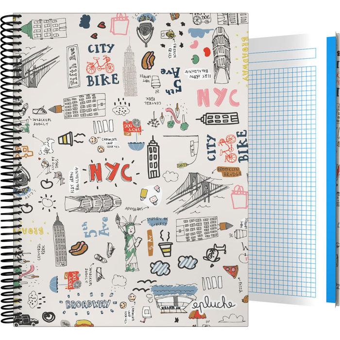 Cuaderno forrada a4 cuadros laurie 20 nyc