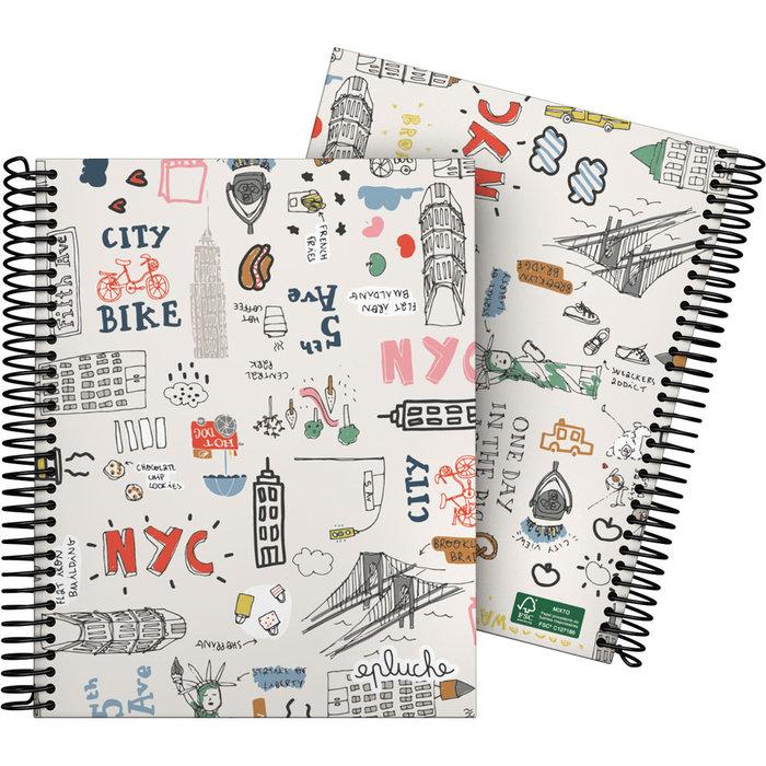 Cuaderno forrada a5 cuadros laurie 20 nyc