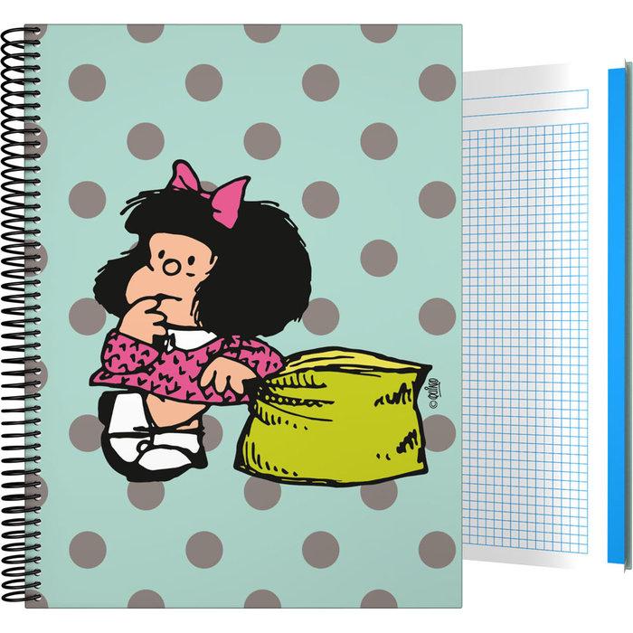 Cuaderno forrada a4 cuadros mafalda 20 dots