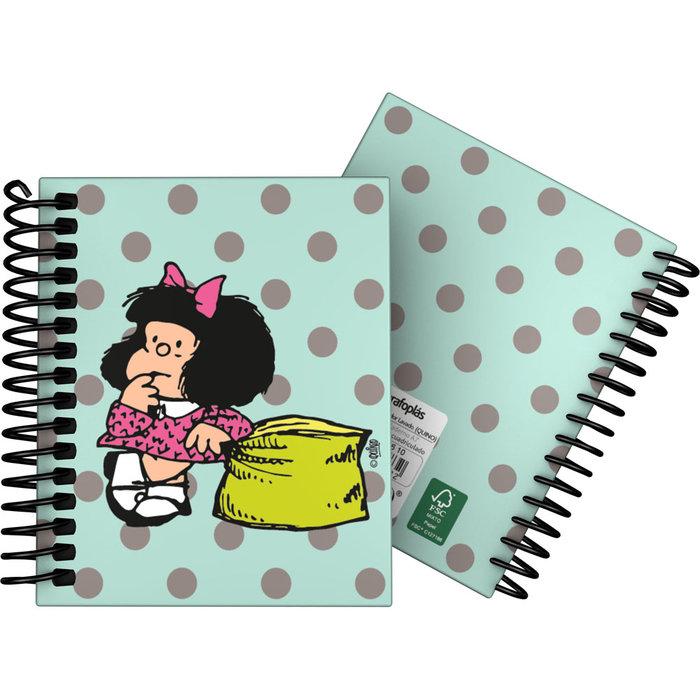 Cuaderno forrada a7 cuadros mafalda 20 dots