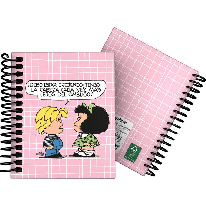 Cuaderno forrada a7 cuadros mafalda 20 belly